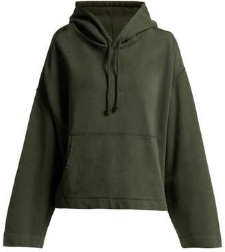 Acne Studios - Joghy Cropped Cotton Hooded Sweatshirt - Womens - Khaki
