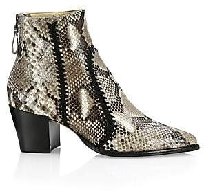 Alexandre Birman Women's Python Block Heel Booties