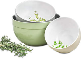 Martha Stewart Collection Farmhouse Collection 3-Pc. Mixing Bowl Set