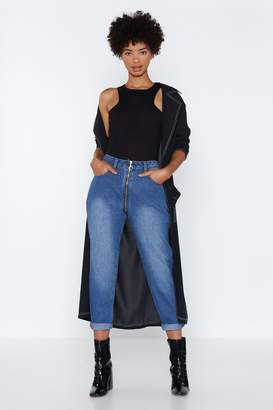 Nasty Gal Front to Back Mom Jeans