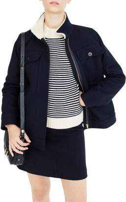 J.Crew Oversize Wool Melton Blend Workwear Jacket