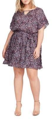 William Rast Plus Sachi Paisley-Print Dress
