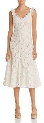 Rebecca Taylor Adriana Lace Midi Dress