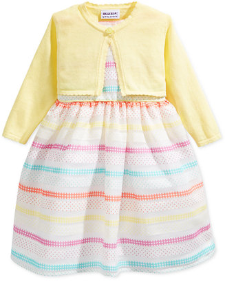 Blueberi Boulevard Patterned Stripe Print Dress with Shrug, Toddler & Little Girls (2T-6X) $52 thestylecure.com