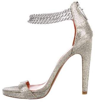 Via Spiga Glitter Ankle Strap Sandals