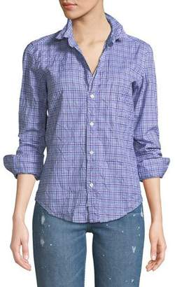 Frank And Eileen Barry Long-Sleeve Button-Front Plaid Top