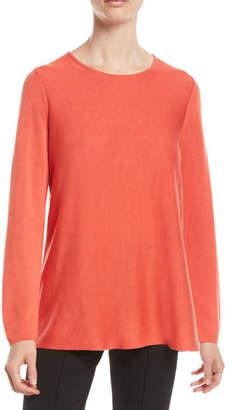 Eileen Fisher Tencel®/Silk Round-Neck Sweater, Petite