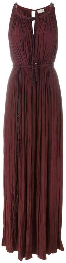 Lanvin pleated maxi dress