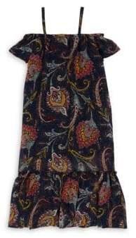 Imoga Little Girl's& Girl's Roselyn Off-The-Shoulder Dress