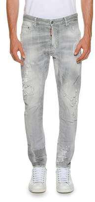 DSQUARED2 Faded Tidy Biker Jeans, Gray