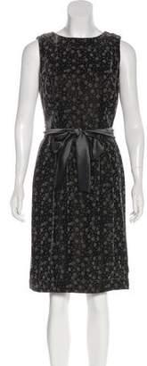 Giorgio Armani Sleeveless Velvet Dress