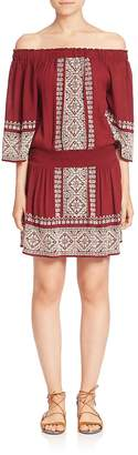 Tularosa Women's Fiona Off-the-Shoulder Embroidered Dress