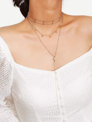 Shein Double Layered Chain Choker & Lariats Necklace