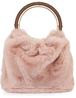 Kate Spade Betty Faux-Fur Swag Bag