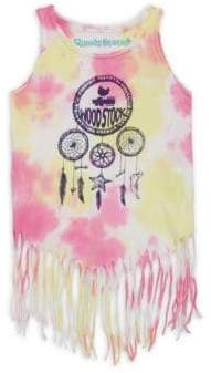 Rowdy Sprout Little Girl's & Girl's Dream Catcher Fringe Cotton Tank Top