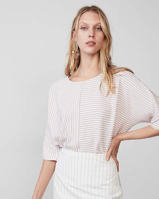 Express Petite Striped Cocoon Top