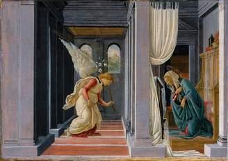 Sandro Exquisite Artz Botticelli: The Annunciation. Fine Art Print/Poster. Size A2 (59.4cm x 42cm)