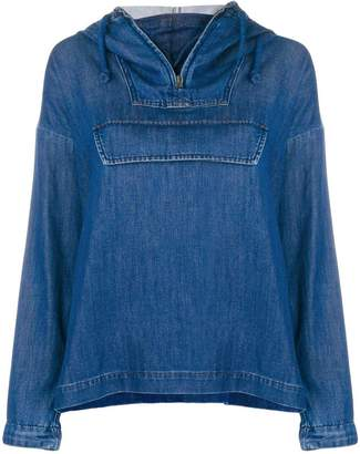 Closed pull-over denim jacket
