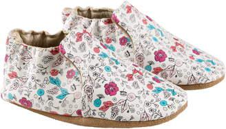 Robeez Petal Floral Print Crib Shoe