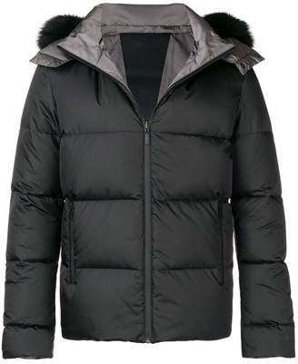 Fendi fox fur trimmed hood padded jacket