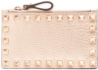 Valentino Rockstud leather cardholder