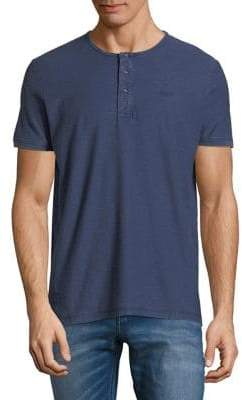 Scotch & Soda Short-Sleeve Henley Shirt
