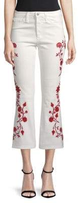 AG Jeans Jodi Embroidered Flared Cropped Jeans