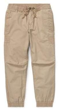 Ralph Lauren Childrenswear Little Boy's Drawstring Cotton Jogger Pants