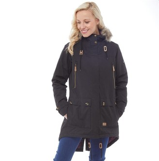 Trespass Womens Clea Insulated Waterproof Parka Jacket Black