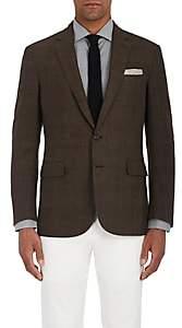 Ralph Lauren Purple Label Men's Nigel Glen Plaid Wool Two-Button Sportcoat-Beige, Tan