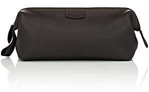 Barneys New York Men's Large Leather Dopp Kit - Dk. brown