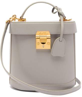 Mark Cross Benchley Saffiano Leather Shoulder Bag - Womens - Light Grey