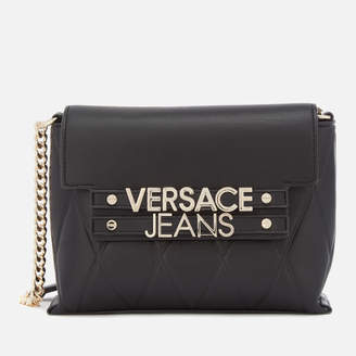 Versace Women's Classic Chain Cross Body Bag - Black