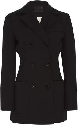 Proenza Schouler Double-Breasted Wool Blazer