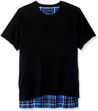 GUESS Men's Stream Tartan Plaid T-Shirt