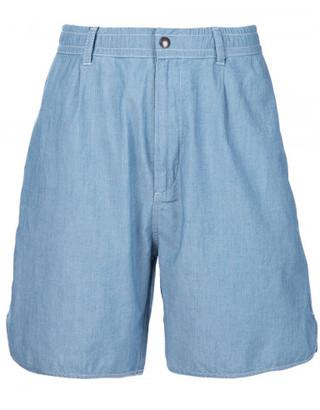 Maison Kitsuné lightweight denim shorts $225 thestylecure.com