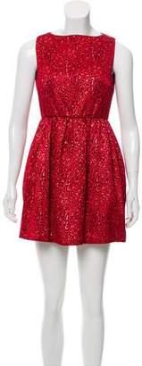 Alice + Olivia Embroidered Mini Dress
