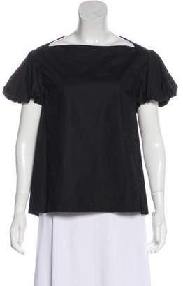 Ter Et Bantine Square Neckline Short Sleeve Top