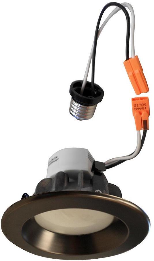 EnviroLite 4 in. Recessed LED Ceiling Light with Bronze Trim Ring, 4000K, 96 CRI (12-Pack)