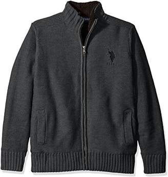 U.S. Polo Assn. Men's Reverse Jersey Full Lined Sweater Jacket