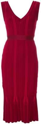 Herve Leger v-neck ribbed dress