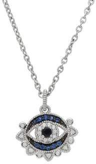 Ripka La Petite 925 Sterling Silver Multi-Gemstone Lucky Evil Eye Necklace