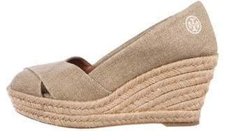 Tory Burch Canvas Wedge Pumps