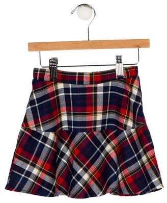 Imoga Girls' Plaid Flare Skirt