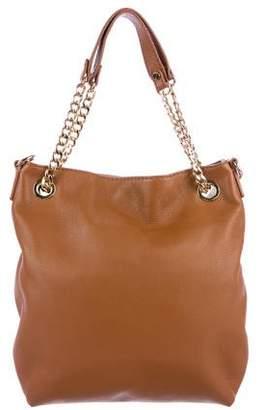 MICHAEL Michael Kors Leather Chain-Link Satchel