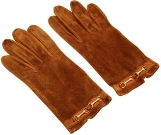 Hermes Vintage Camel Suede Gloves