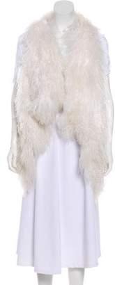 LGB Shearling Open Front Vest