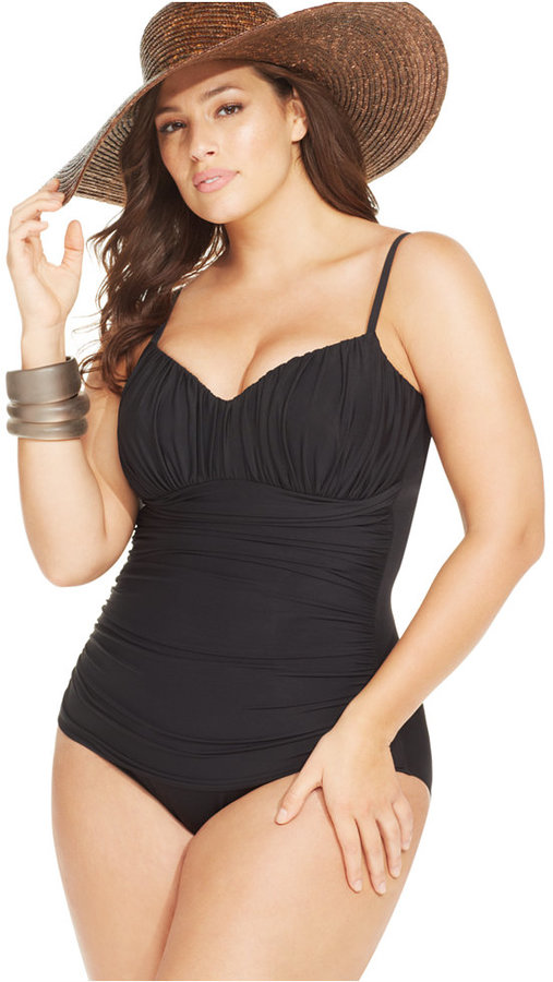 Miraclesuit Plus Size Rialto Ruched One-Piece Swimsuit