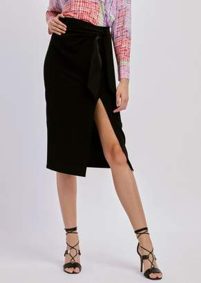 Emporio Armani Straight Pencil Skirt With Satin Bow
