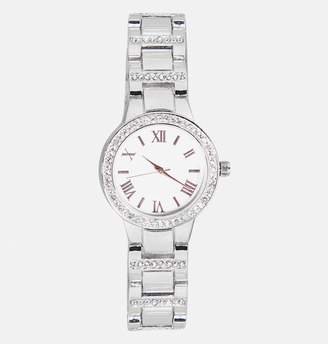 Avenue Rose Gold Numeral Metal Link Watch